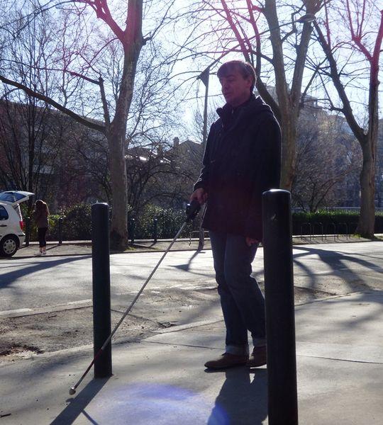 Formation Canne Blanche Electronique dans les rues de Toulouse