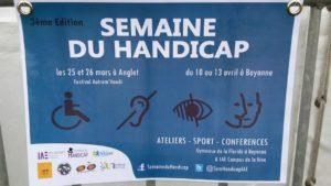 Affiche de la Semaine du Handicap, Anglet